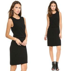 Theory Dialia Crepe Drape Sheath Dress 0